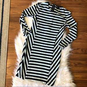 French Connection Striped Dress Fitted Bodycon 8